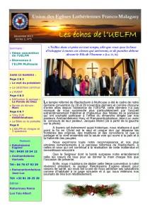 BULLETIN UELFM N°5 DEC 2015